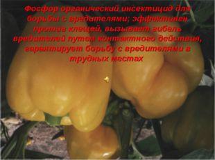 Фосфор органический инсектицид для борьбы с вредителями; эффективен против кл