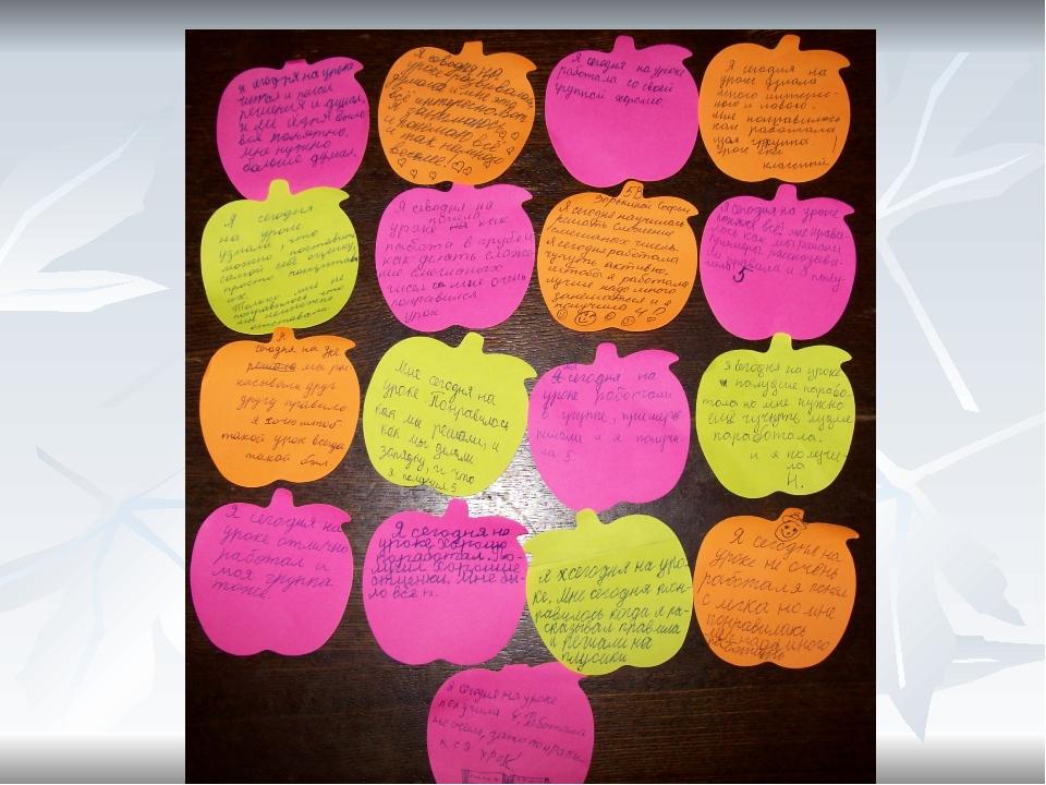 - Заинтересованность учащихся в самооценивании и самоконтроле; - Умеют опред...