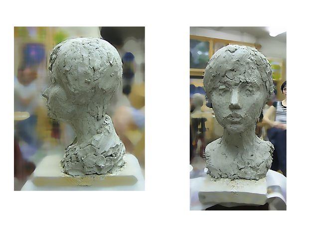Постепенно, по мере уточнения пропорций и пластики, голова неизбежно становит...