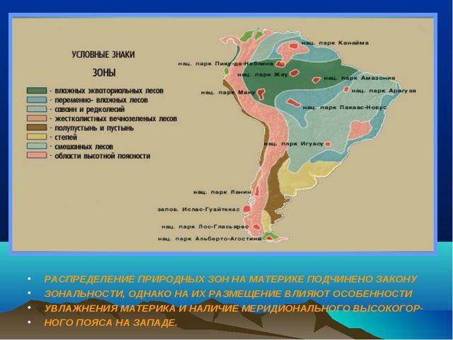 Природные Зоны Южной Америки Презентация 7 Класс