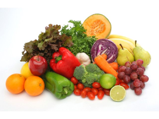 Colorful fresh group of vegetables and fruits Любимый дом