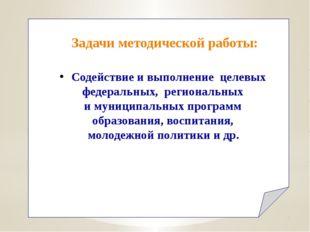 Содействие и выполнение целевых федеральных, региональных и муниципальных пр
