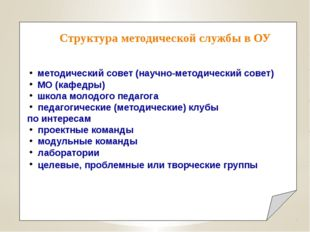 методический совет (научно-методический совет) МО (кафедры) школа молод