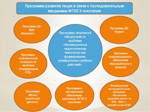 Программа развития лицея в связи с последовательным введением ФГОС II поколен