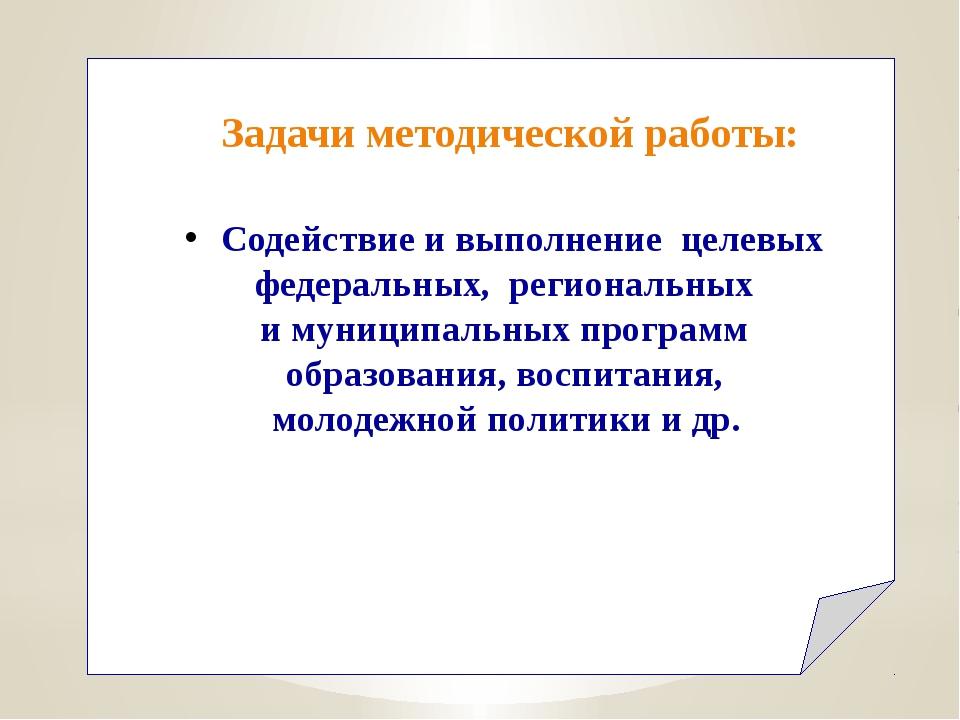 Содействие и выполнение целевых федеральных, региональных и муниципальных пр...