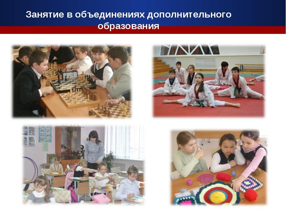 Занятие в объединениях дополнительного образования