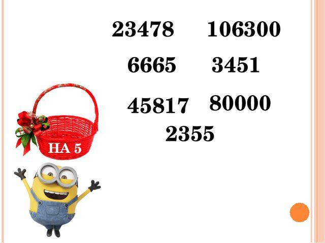 НА 5 23478 2355 106300 3451 6665 80000 45817