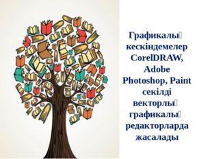 Графикалық кескіндемелер СorelDRAW, Adobe Photoshop, Paint секілді векторлық
