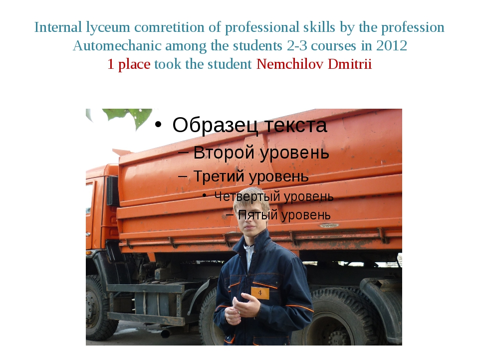 Internal lyceum comretition of professional skills by the profession Automech...