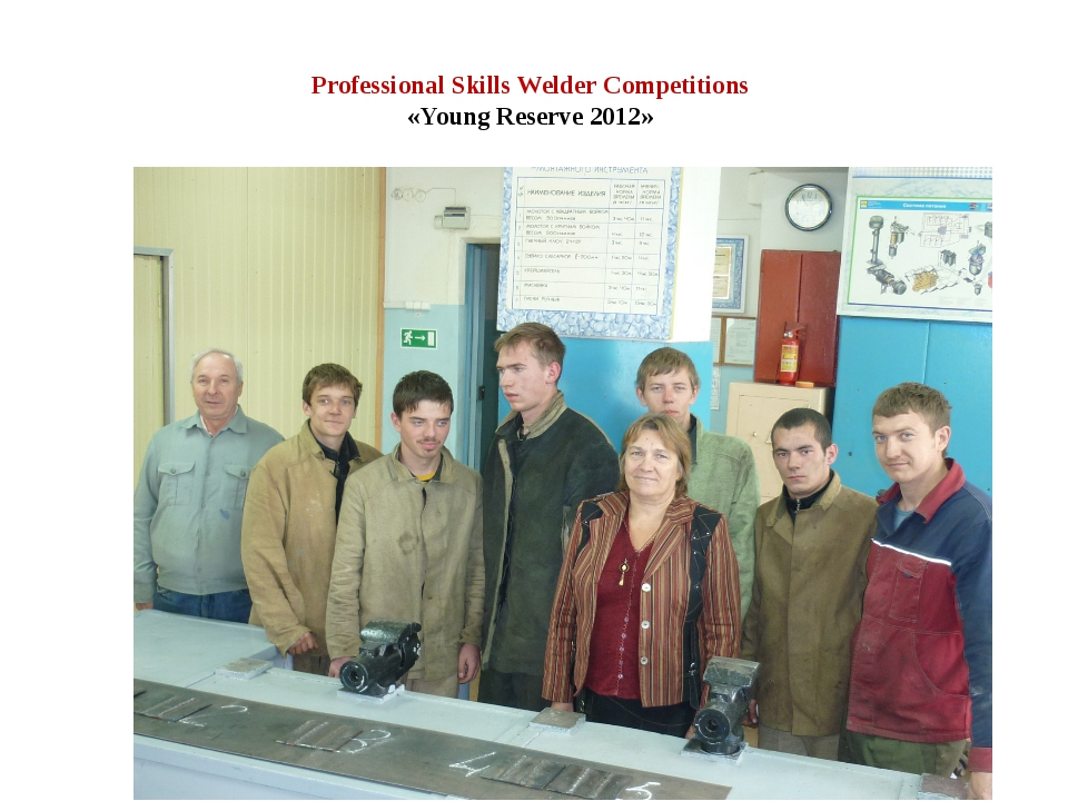Professional Skills Welder Competitions «Young Reserve 2012»