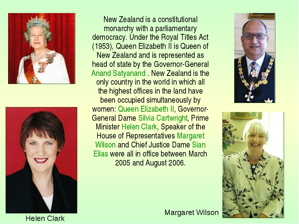 New Zealand is a constitutional monarchy with a parliamentary democracy. Und...