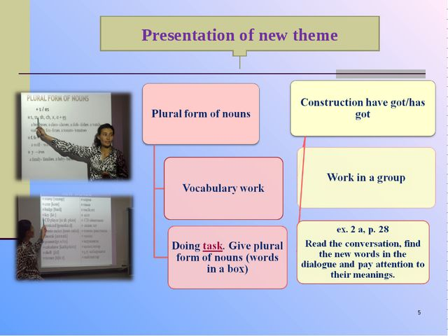 * Presentation of new theme