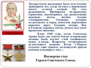 Белорусскому школьнику было чуть больше тринадцати лет, когда онушел кпар