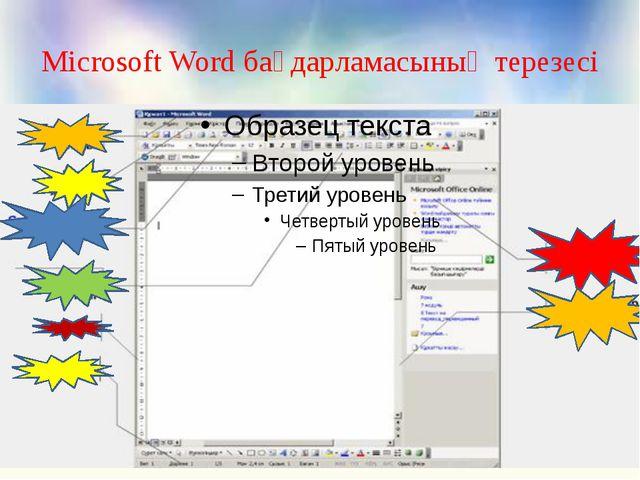 Microsoft Word бағдарламасының терезесі