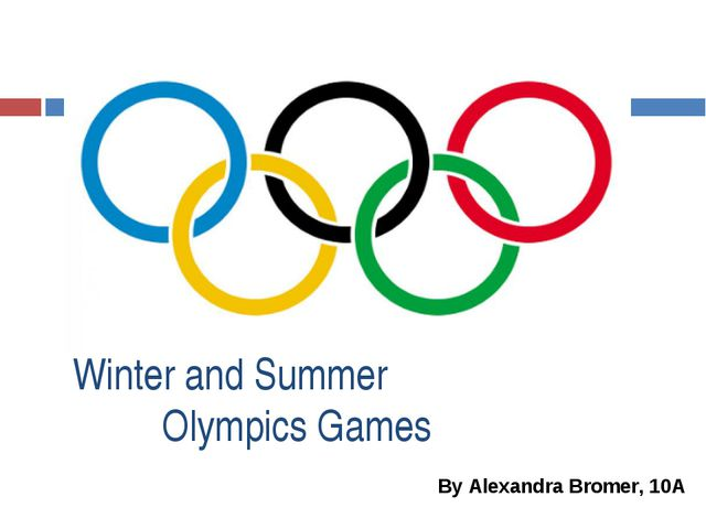 Winter and Summer Olympics Games By Alexandra Bromer, 10A
