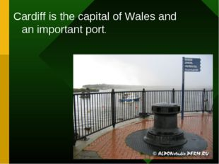 Cardiff is the capital of Wales and an important port.