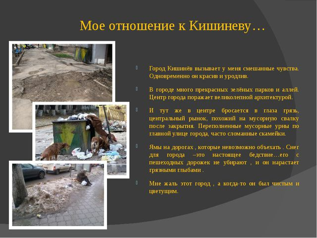 Мое отношение к Кишиневу… Город Кишинёв вызывает у меня смешанные чувства. Од...