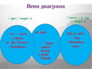 Венн диаграма Жәндік Бунақ – денелі Илеуде тұрады Топпен Ірі, күшті, әлде, ұ