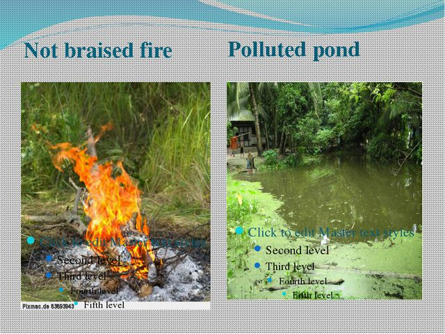 Not braised fire Polluted pond