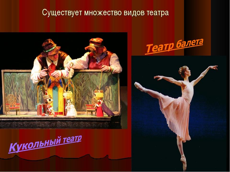 Существует множество видов театра