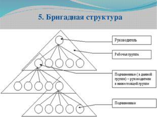 5. Бригадная структура