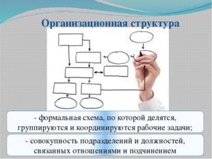 Организационная структура - совокупность подразделений и должностей, связанны