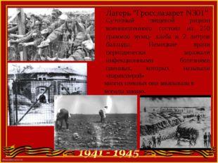 """Лагерь """"Гросслазарет N301"""" Суточный пищевой рацион военнопленного состоял из"""
