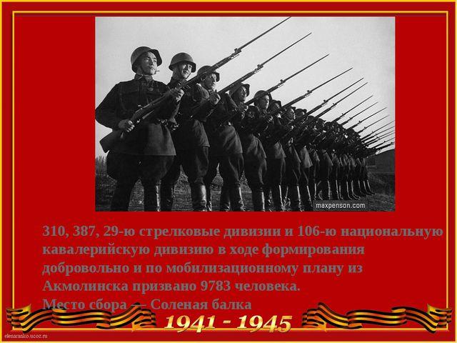 310, 387, 29-ю стрелковые дивизии и 106-ю национальную кавалерийскую дивизию...