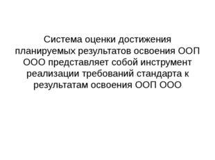 Система оценки достижения планируемых результатов освоения ООП ООО представля