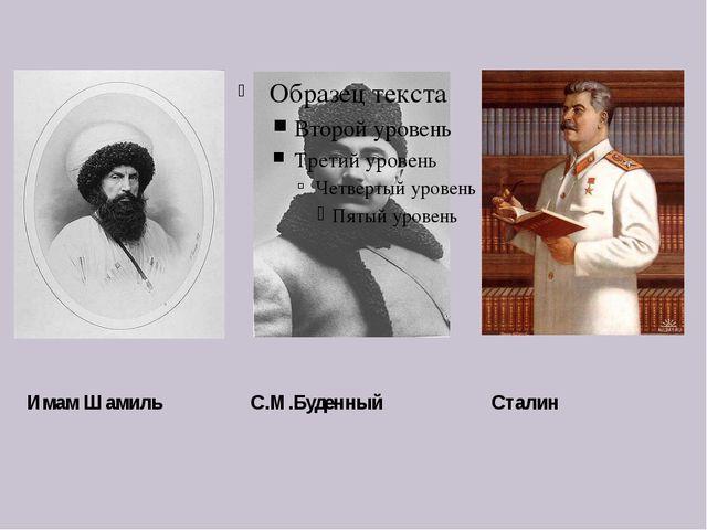 Имам Шамиль С.М.Буденный Сталин