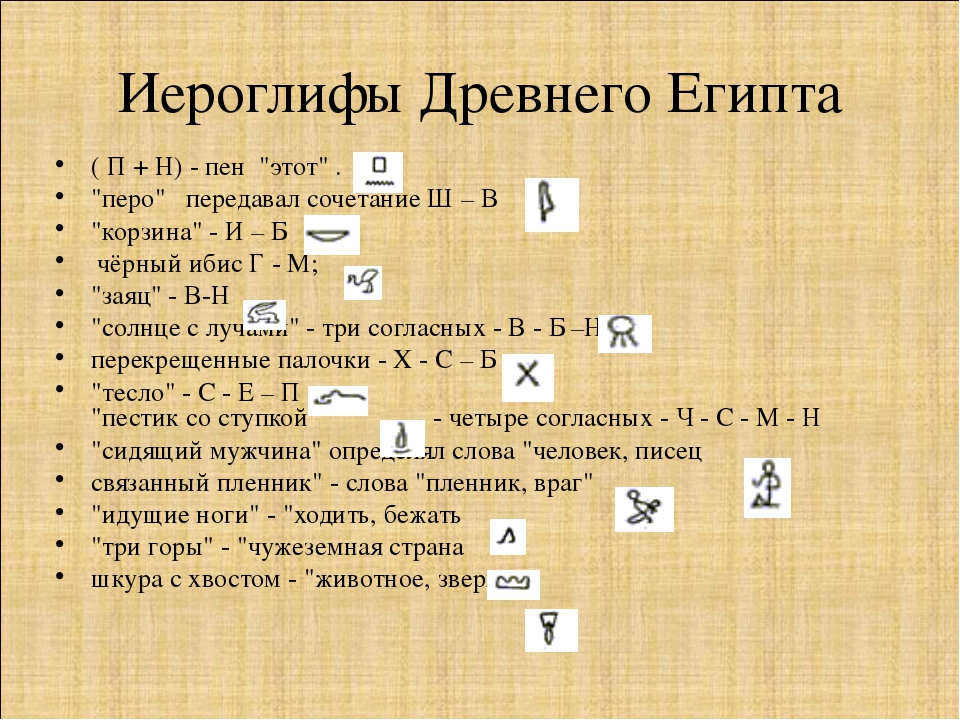 """Иероглифы Древнего Египта ( П + Н) - пен """"этот"""" . """"перо""""  передавал сочетан..."""