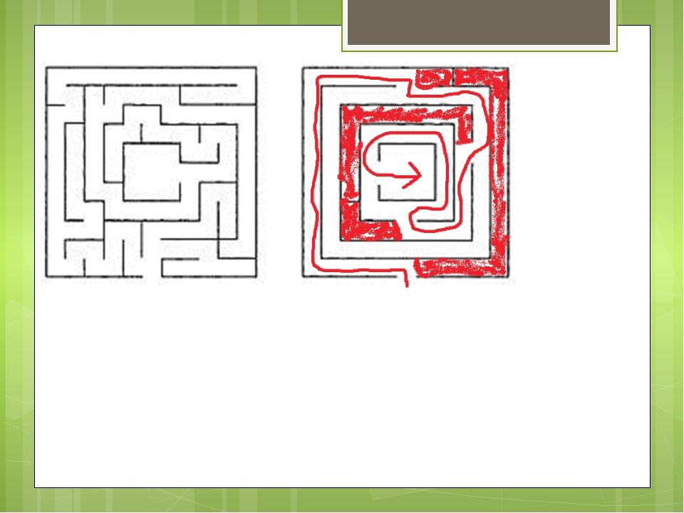 Вот мы прошли этот лабиринт правилом зачёркивания тупиков.