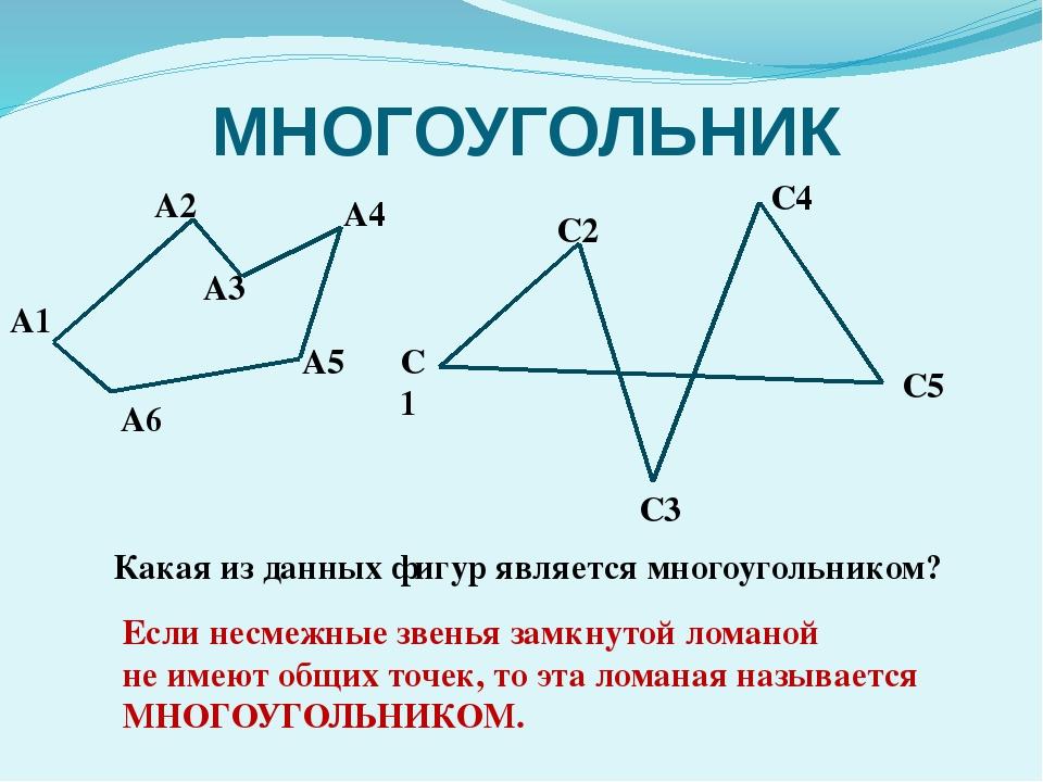 МНОГОУГОЛЬНИК А1 А6 А4 А3 А2 А5 С5 С4 С3 С2 С1 Какая из данных фигур является...