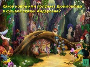 Какое новое имя получает Дюймовочка в финале сказки Андерсена?