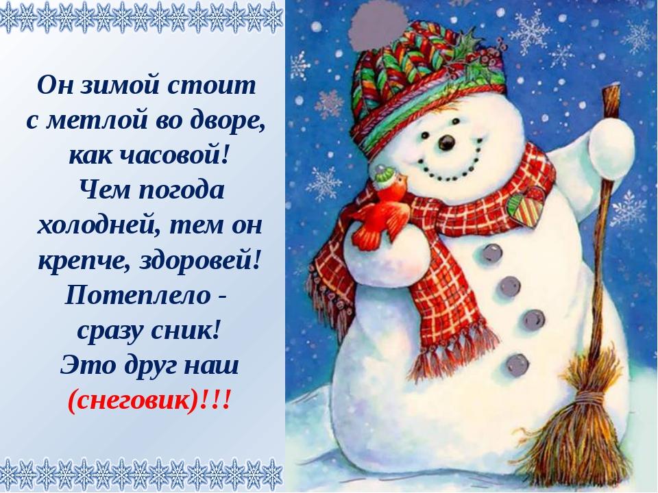 Он зимой стоит с метлой во дворе, как часовой! Чем погода холодней, тем он кр...