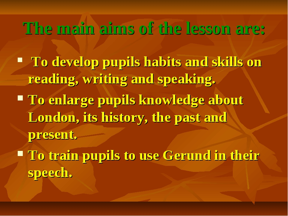 The main aims of the lesson are: To develop pupils habits and skills on readi...