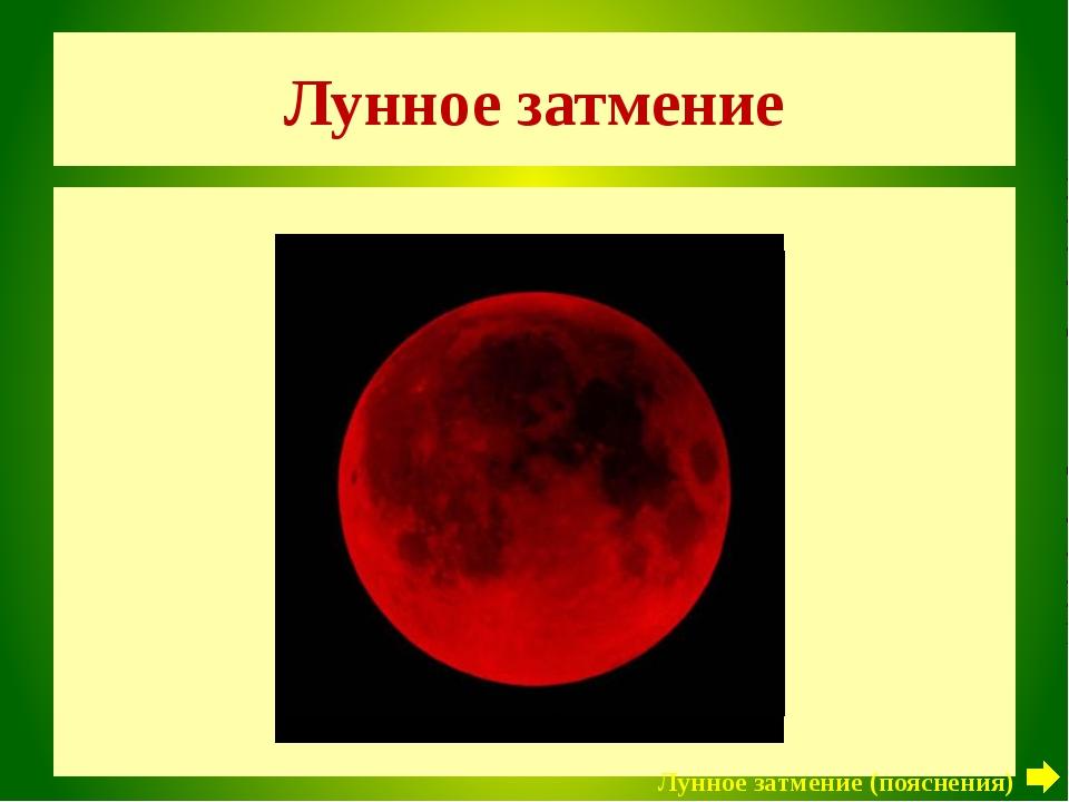 Лунное затмение Луна Лунное затмение (пояснения)