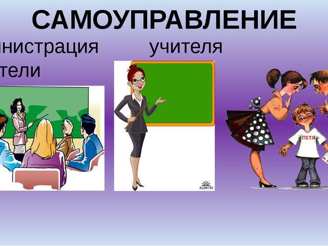 САМОУПРАВЛЕНИЕ администрация учителя родители школы