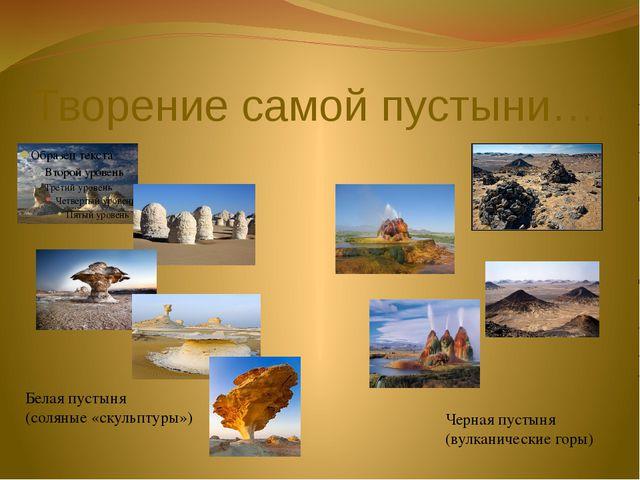 Творение самой пустыни…. Белая пустыня (соляные «скульптуры») Черная пустыня...