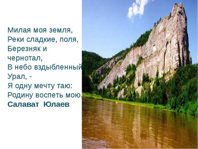 Милая моя земля, Реки сладкие, поля, Березняк и чернотал, В небо вздыбленны...