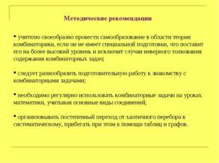 Методические рекомендации учителю своеобразно провести самообразование в обла