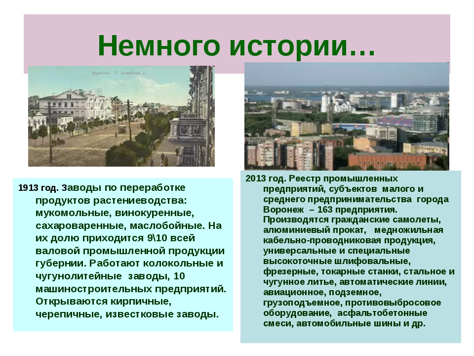 Немного истории… 1913 год. Заводы по переработке продуктов растениеводства: м...