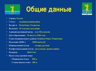 Общие данные Страна Россия Статус муниципальный район Входит в Республику