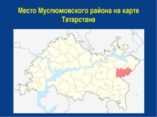 Место Муслюмовского района на карте Татарстана