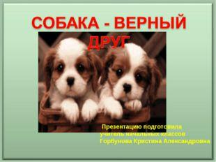 Презентацию подготовила учитель начальных классов Горбунова Кристина Алексан