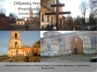 Церкви Некоузского района сел Веретея, Лацкое, Спас, Верхне-Никульское, Стар