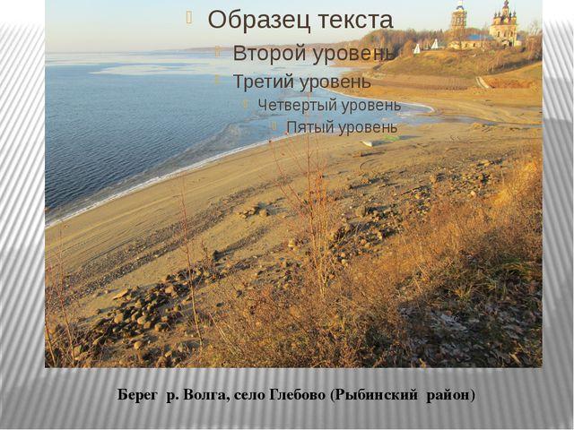Берег р. Волга, село Глебово (Рыбинский район)