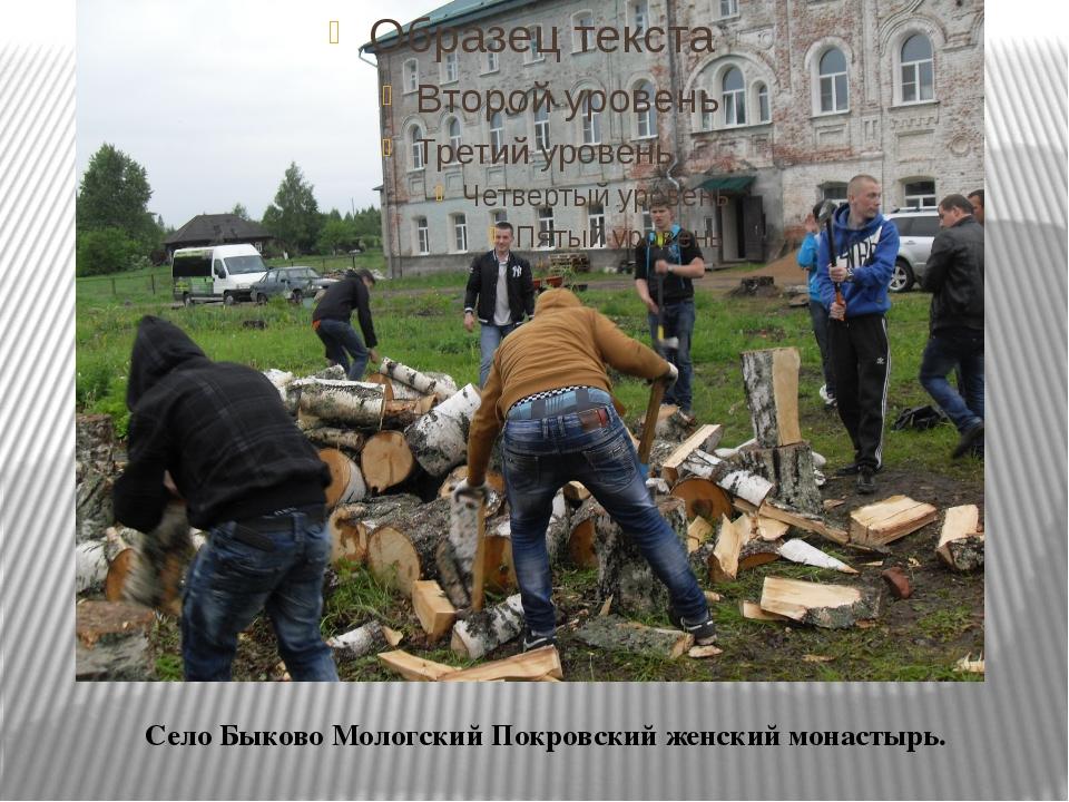 Село Быково Мологский Покровский женский монастырь.
