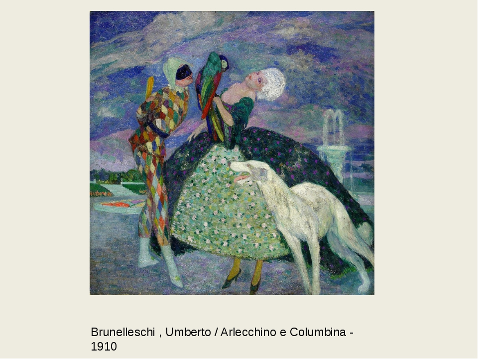 Brunelleschi , Umberto / Arlecchino e Columbina - 1910