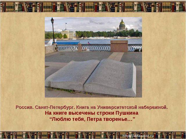 * * Россия. Санкт-Петербург. Книга на Университетской набережной. На книге вы...